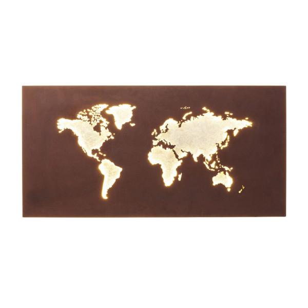 Wandlamp wereldkaart