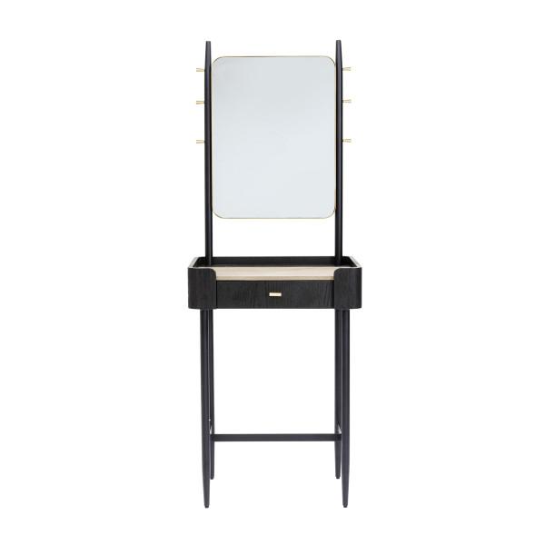 Zwarte design kaptafel met spiegel