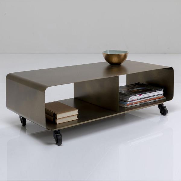 Verrijdbaar tv-meubel brons