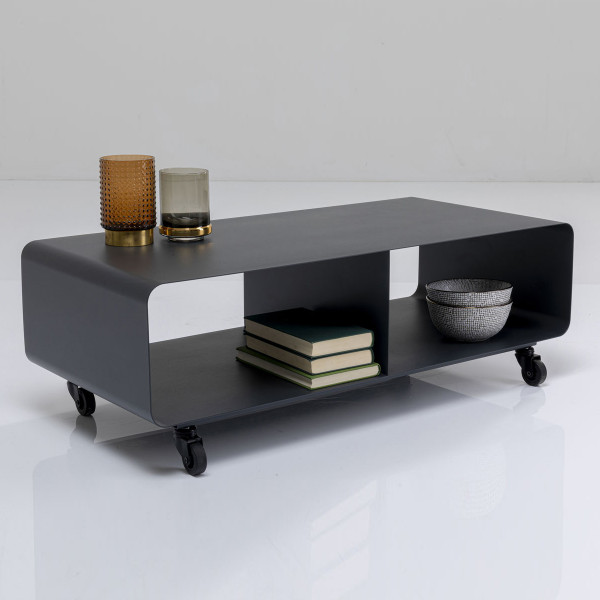 Verrijdbaar tv-meubel donkergrijs