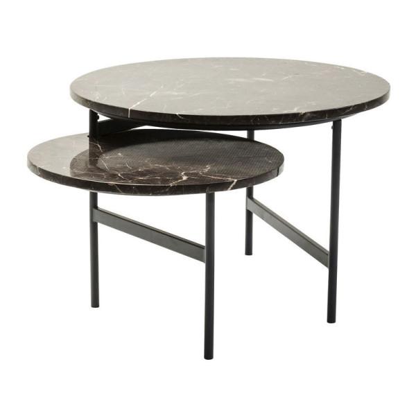 Draaibare marmeren design salontafel