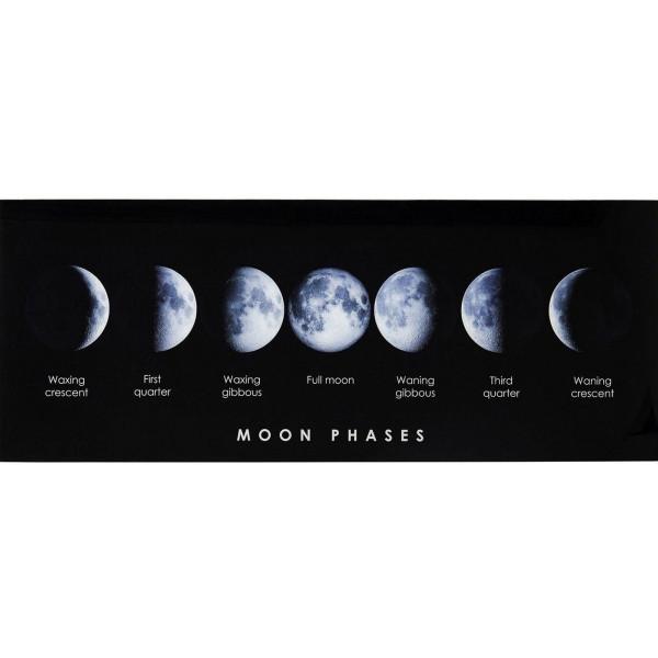 Glas schilderij maanfases 70 x 180 cm