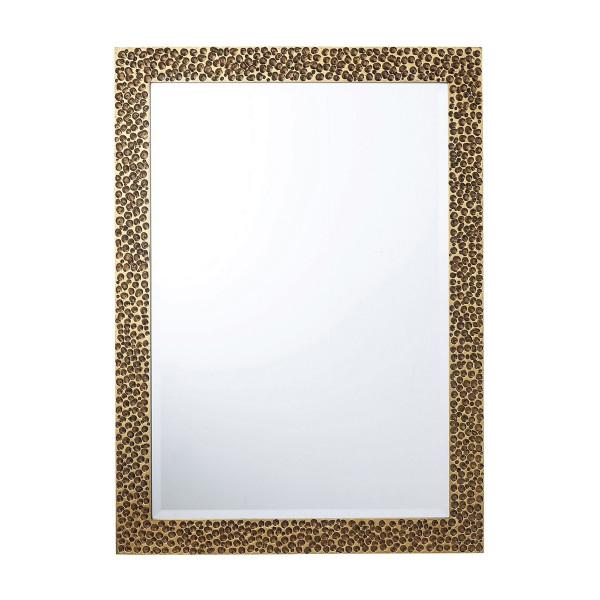 Houten spiegel met goud