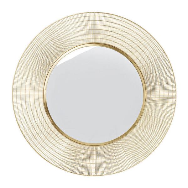 Ronde spiegel met metaal