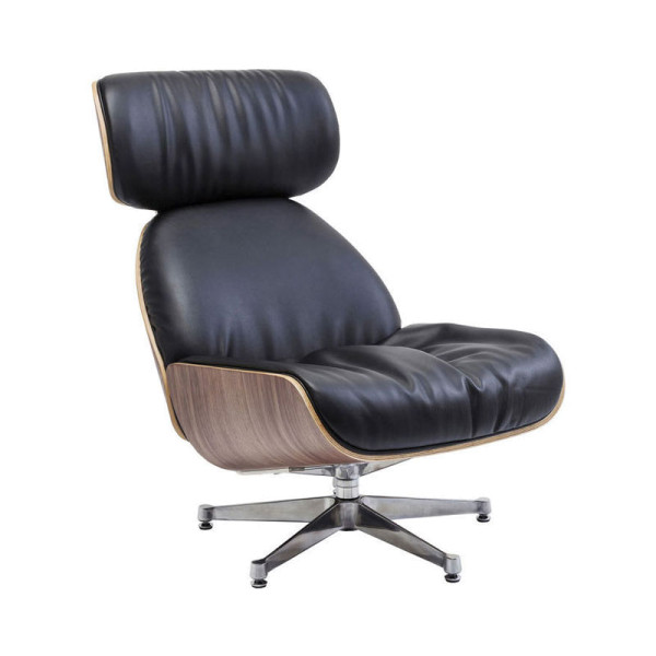 Zwarte comfortabele fauteuil