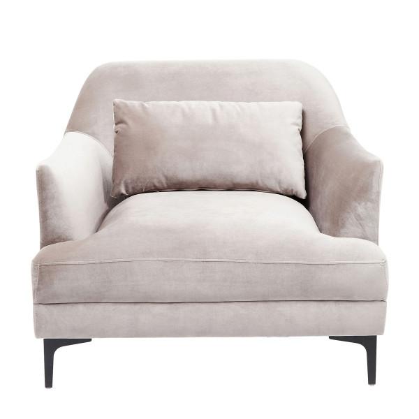 Elegante fauteuil lichtgrijs