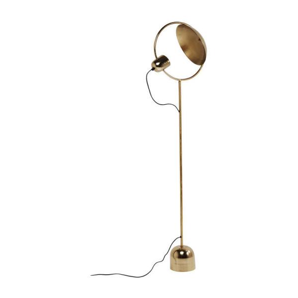 Koperen staande lamp