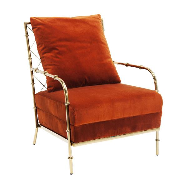 Oranje fauteuil fluweel