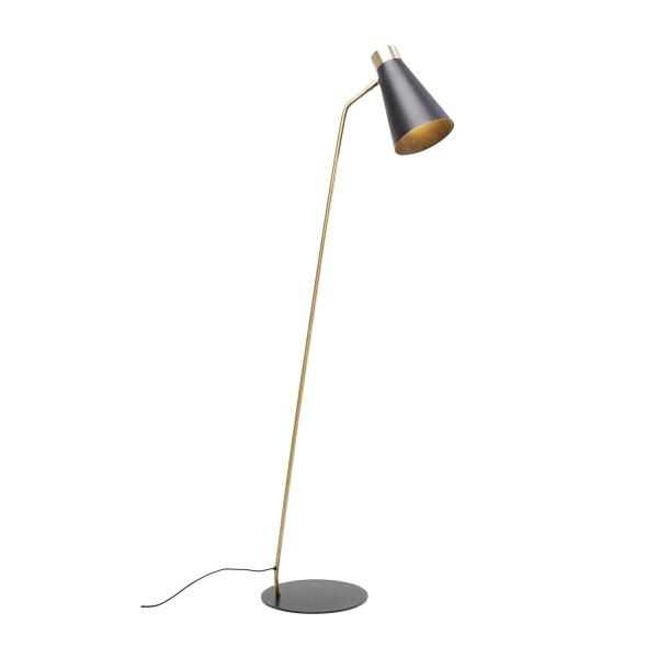Zwart metalen vloerlamp