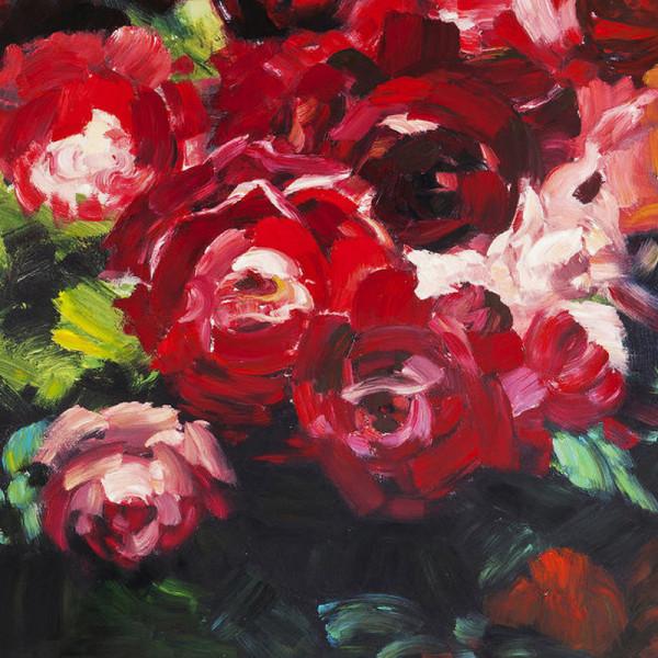 Olieverfschilderij rozen