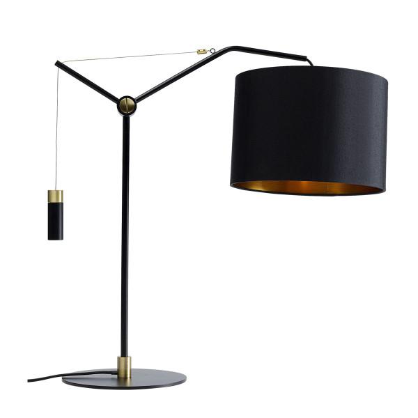 Zwarte tafellamp met gewicht