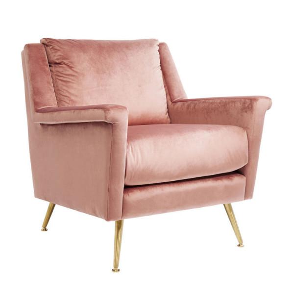 Roze retrofauteuil