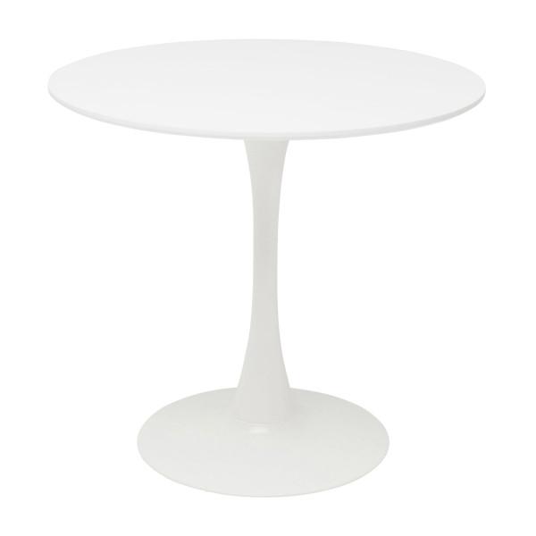 Witte ronde eettafel
