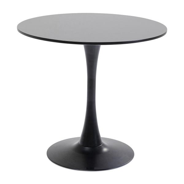 Zwarte ronde eettafel