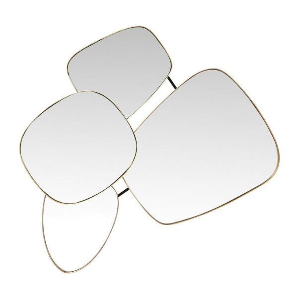 Retro design spiegel van goud