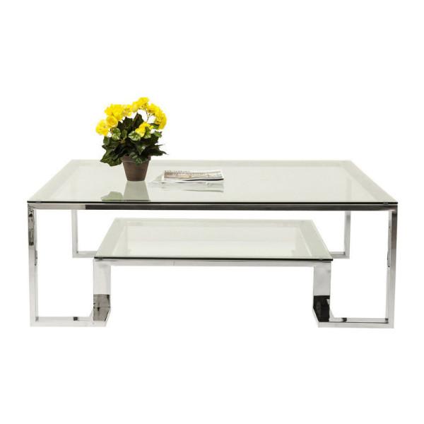 Glazen design salontafel