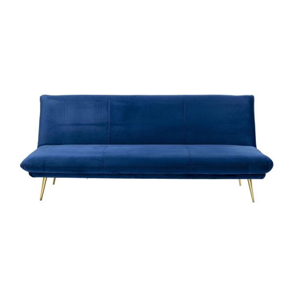 Slaapbank van blauw fluweel