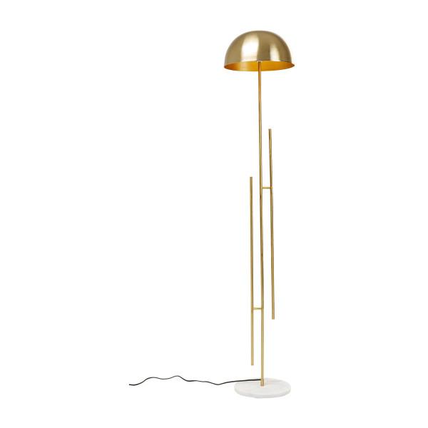 Gouden vloerlamp met marmer