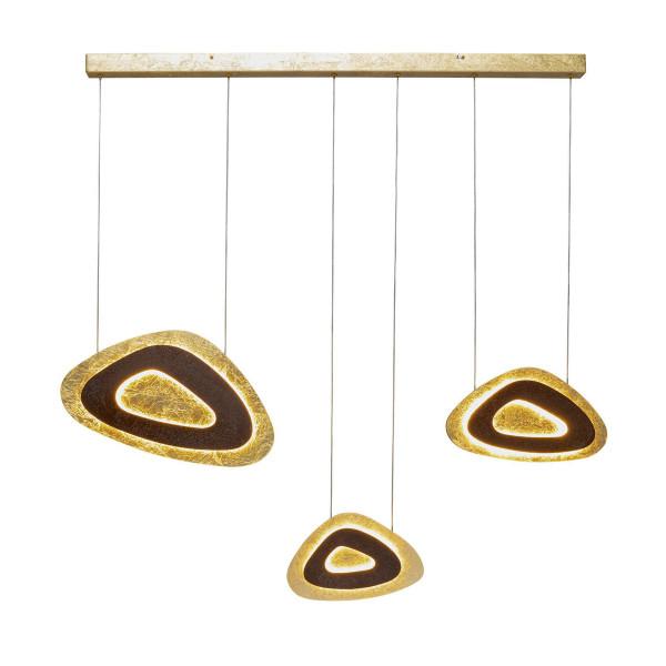 Design hanglamp goud