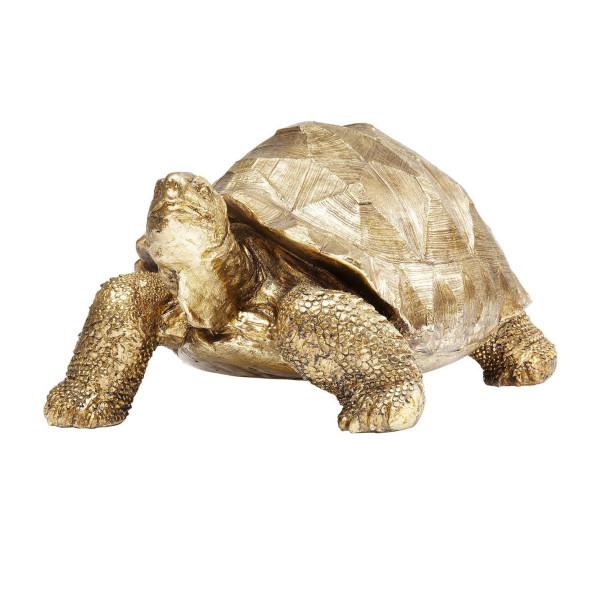 Gouden deco schildpad