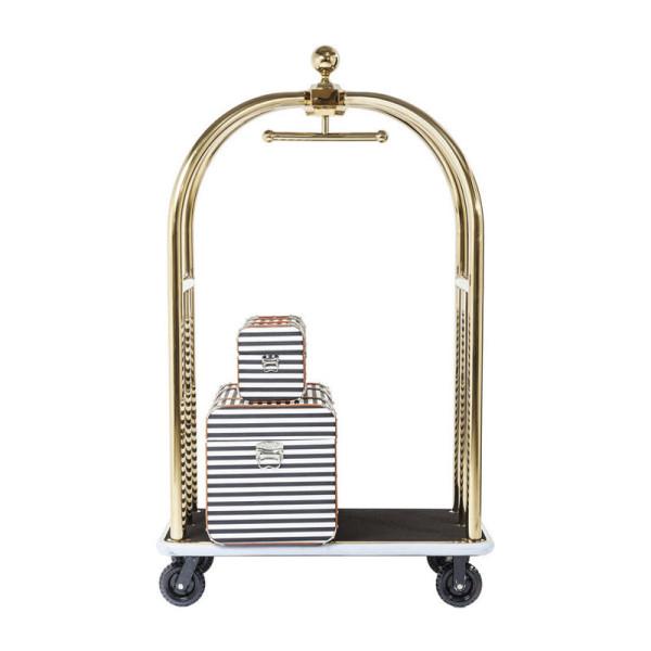 Bagage trolley goud