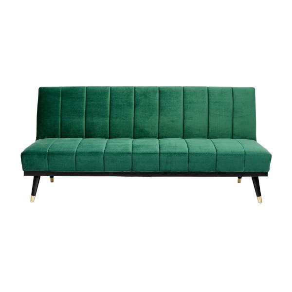 Slaapbank groen fluweel