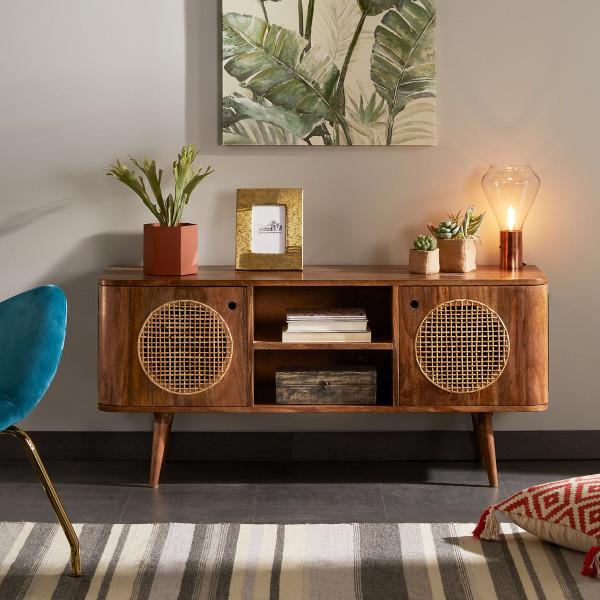 Bruin tv-meubel mangohout