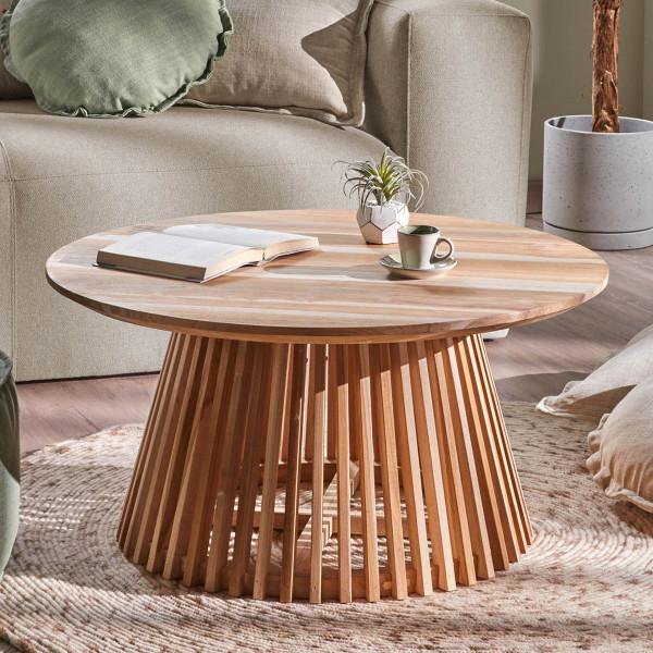 Ronde salontafel van hout