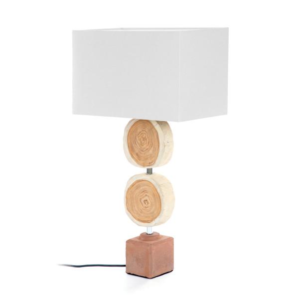 Tafellamp met boomstammen