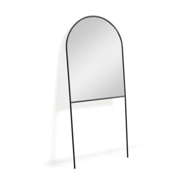 Staande boog spiegel zwart