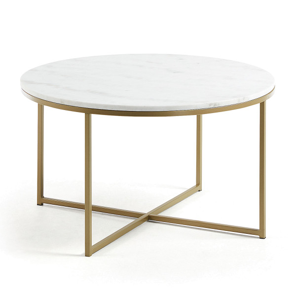Wit marmeren salontafel