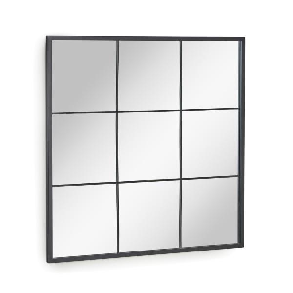 Grote vierkante spiegel zwart