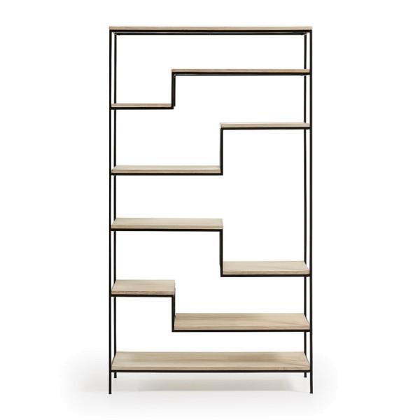 Boekenkast van metalen frame