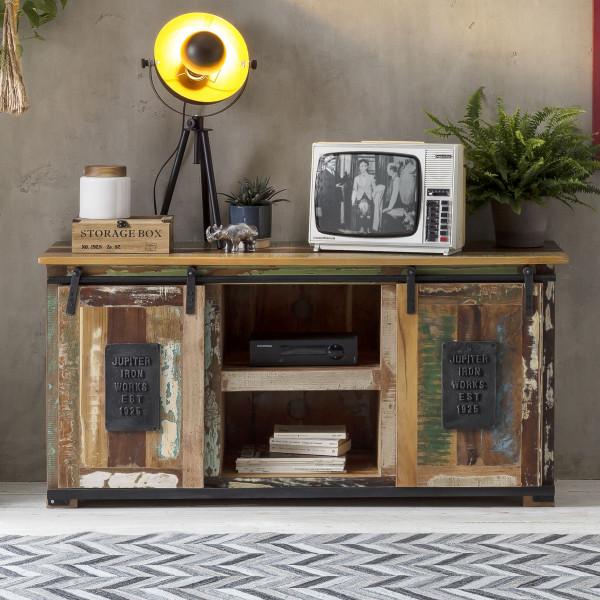 TV-meubel van gerecycled hout