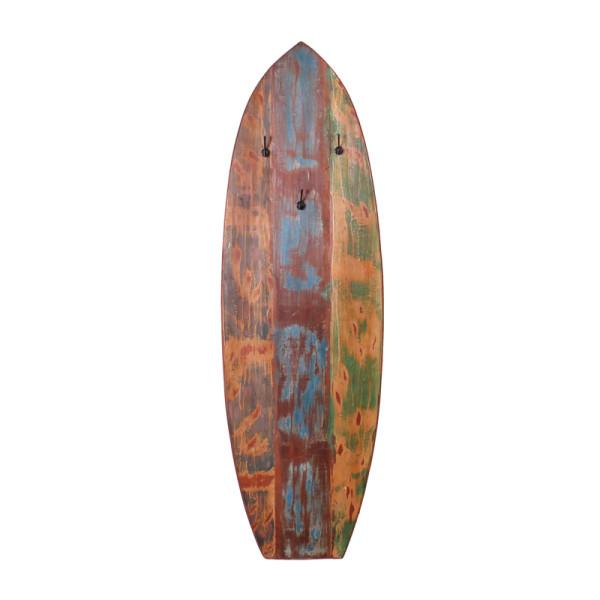 Meerkleurige wandkapstok van hout