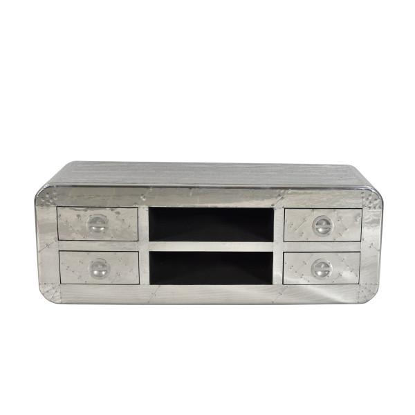 Tv-meubel aluminium 145 cm