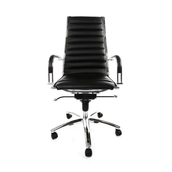 Lederen bureaustoel
