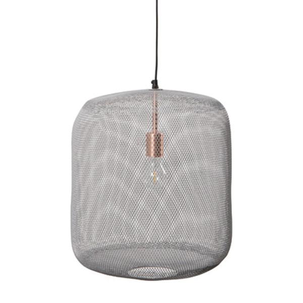 Mat grijze hanglamp