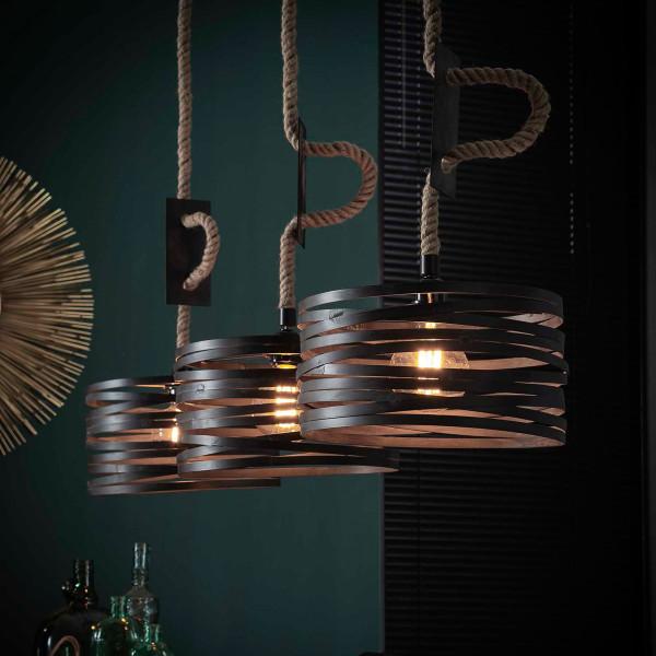 Metalen hanglamp 3-delig