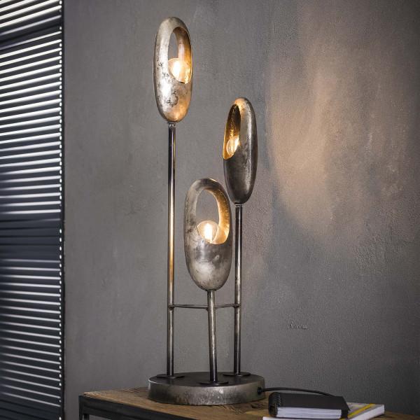 Metalen tafellamp getrapt