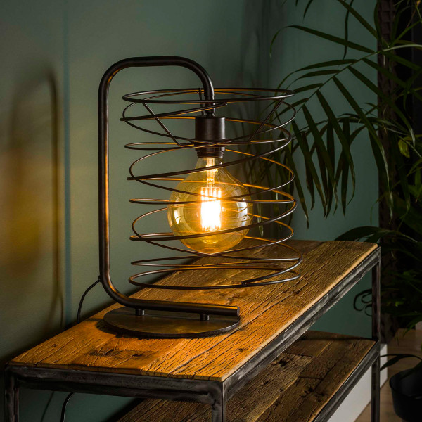 Metalen tafellamp van metaaldraad