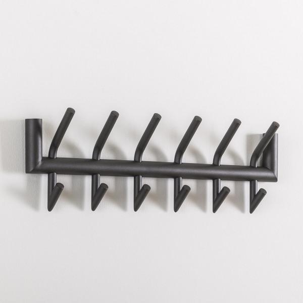 Moderne wandkapstok antraciet