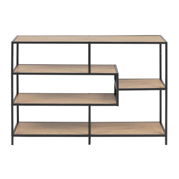 Open boekenkast met stalen frame