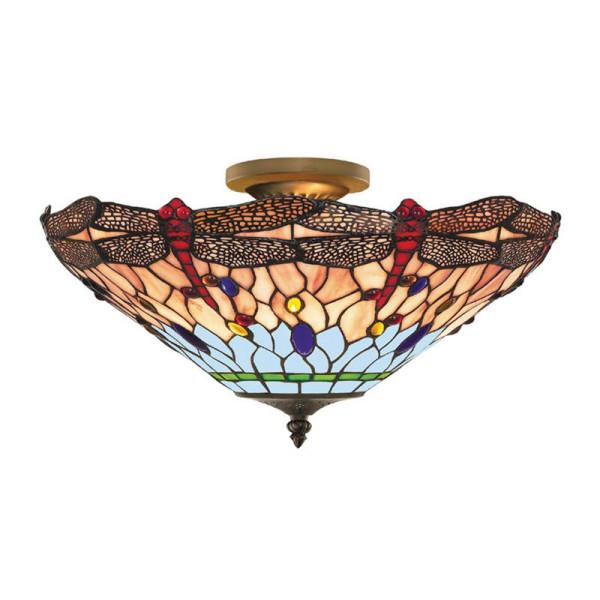 Plafondlamp Tiffany glas P