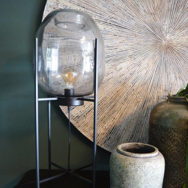 Staande lamp met glazen bol