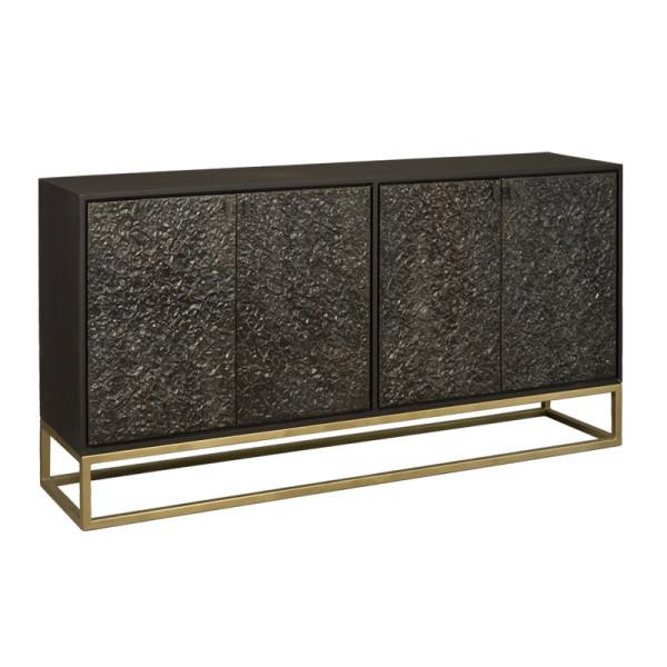 Zwart dressoir met goud