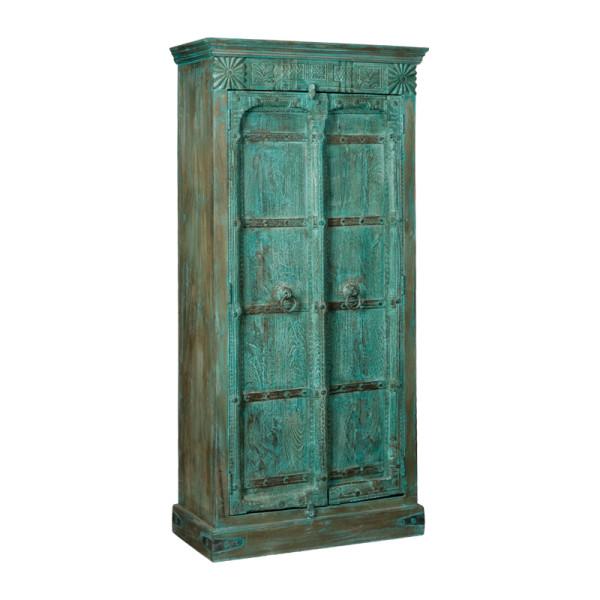 Indiase vintage kast aqua green