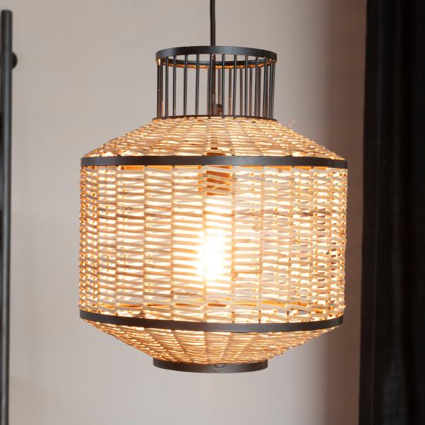 Retro design hanglamp riet