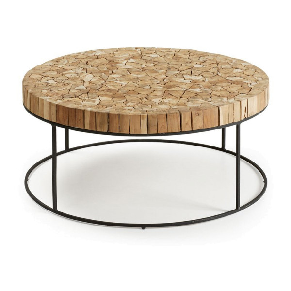 Ronde design salontafel van teak