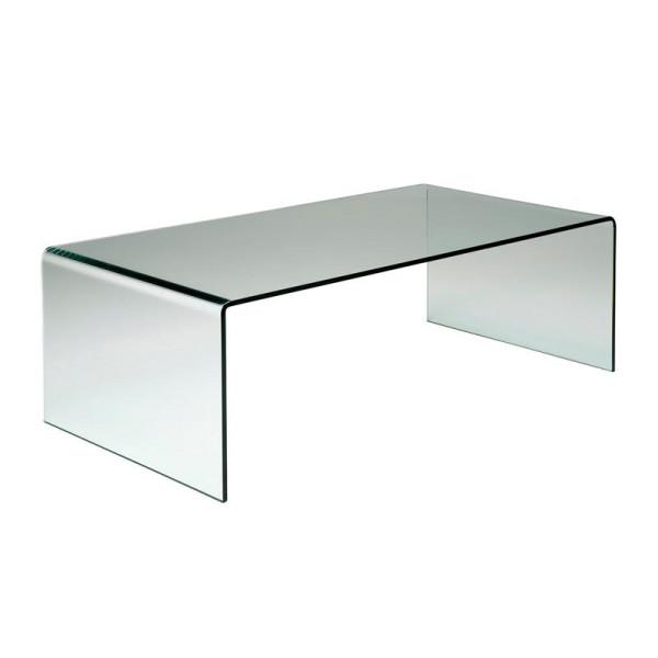 Salontafel gebogen glas 120 cm